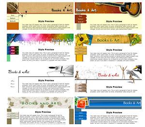 Lots of templates in SBI's online website design builder