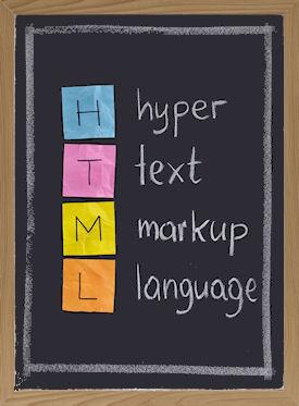 HTML = HyperText Markup Language